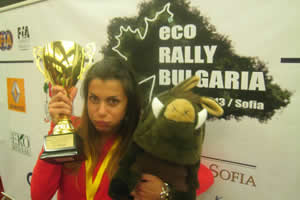 Isabelle all'Ecorally in Bulgaria